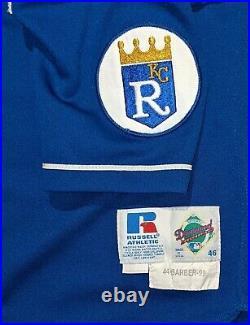 1999 Brian Barber game used Kansas City Royals alternate jersey