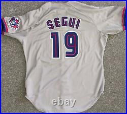 1999 David Segui Toronto Blue Jays game used jersey Team COA