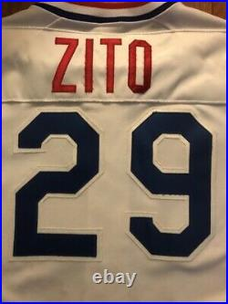 1999 Giants Canadians Barry Zito Game Used Worn Home Jersey World Series Patch