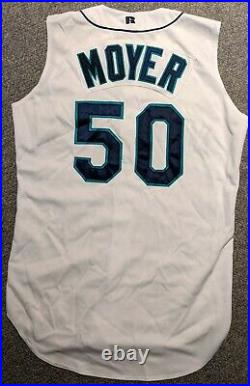 1999 Jamie Moyer game used Seattle Mariners home jersey (vest)
