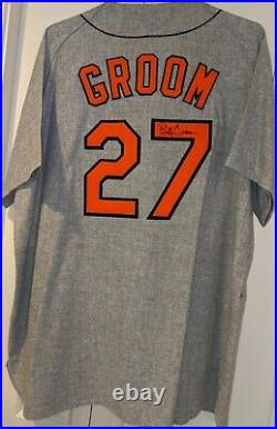 2000 Buddy Groom game used Baltimore Orioles jersey 1970 Gray Flannel TBC