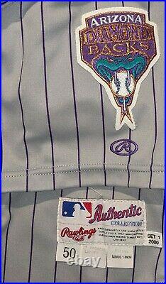 2000 Darren Holmes game used Arizona Diamondbacks jersey