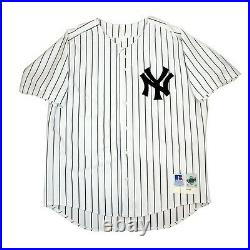 2000 New York Yankees Authentic Game Issued Home Pro Cut Jersey SZ 52