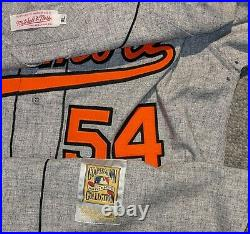 2000 Sam Snider game used Baltimore Orioles jersey 1970 Gray Flannel TBC