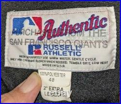 2001 Dante Powell SF Giants game used/worn alternate black jersey