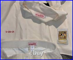 2001 Game Used Minn. Twins Jersey & Pants of Luis Rivas-TBC 1901 Wash. Senators