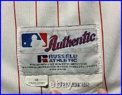 2001 Raul Gonzalez game used Cincinnati Reds jersey vest with undershirt