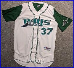 2001 Rusty Meacham game used Tampa Bay Rays jersey vest with undershirt