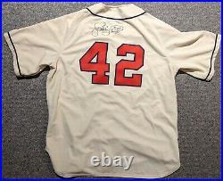 2002 Jose Lima game used Detroit Tigers (Stars) TBC Negro League #42 jersey