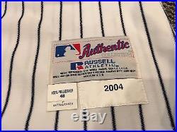 2004 Derek Jeter New York Yankees Game Used Baseball Jersey Lelands Loa Wow