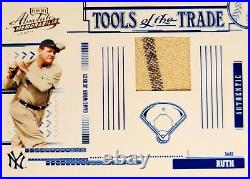 2005 BABE RUTH YANKEES PINSTRIPE JERSEY PATCH Tools of the Trade 13/100