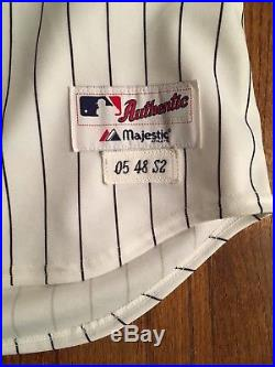 2005 World Series Chicago White Sox Game Used Jersey Luis Vizcaíno Shows Use
