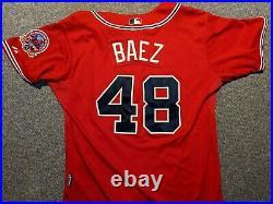 2006 Game Used Atlanta Braves Jersey of Danys Baez 40th years in Atlanta patch