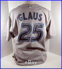 2007 Toronto Blue Jays Troy Glaus #25 Game Issued Grey Jersey
