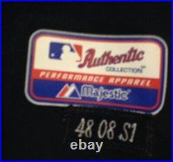 2008 Game Worn Used Terry Pendleton Atlanta Braves Navy Alt Jersey 48
