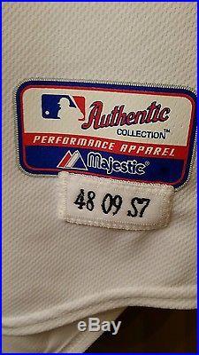 2009 Chipper Jones Game Used Jersey Atlanta Braves Future HOF (MLB Auth)