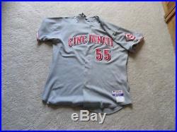 2009 Cincinnati Reds Ramon Hernandez #55 Game Used / Worn Signed Road Jersey