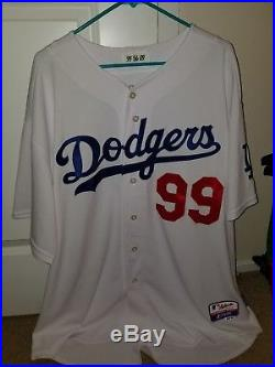 2009 Game Worn/Issued Manny Ramirez Dodgers Majestic Jersey Size 56 0063 tag HOF