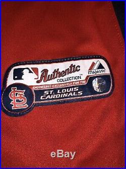 2011 Chris Carpenter St. Louis Cardinals Game Used BP Jersey