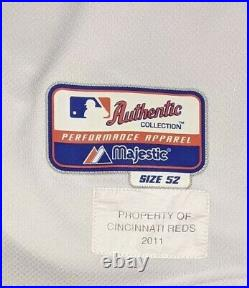 2011 Edinson Volquez game used Cincinnati Reds jersey Sparky Anderson patch