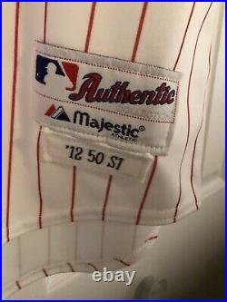 2012 Chicago White Sox Game Worn Viciedo 72 TBTC Baseball Jersey Chunichi Dragon