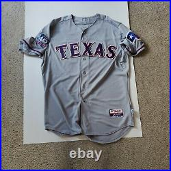 2012 TEXAS RANGERS MARTIN PEREZ GAME WORN ISSUED GRAY ROAD JERSEY price reduced
