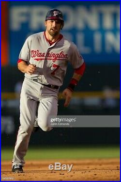2012 Washington Nationals MARK DeROSA Game Used Worn Baseball MLB Jersey