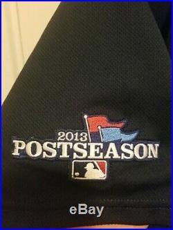 2013 Game Worn Majestic Atlanta Braves Maholm Playoff Jersey Size 48 MLB