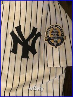 2013 Mariano Rivera Night Game Worn Ny Yankees Jersey/ Eduardo Nunez / Steiner