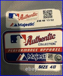 2013 New York Mets Game Used Worn Vic Black Jersey ASG MLB Authenticated COA