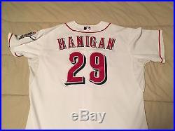 2013 Ryan Hanigan Game Used Jersey Cincinnati Reds Boston Red Sox