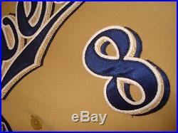 2014 Ryan Braun Game Used HR Gold Alternate 5/30/14 Brewers Jersey HZ180297
