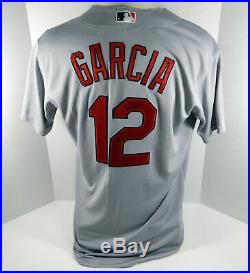 2014 St. Louis Cardinals Greg Garcia #12 Game Issued Signed Grey Jersey