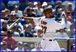 2015 Game Used MATT KEMP Padres Throwback Jersey Photo Matched MLB Authenticated