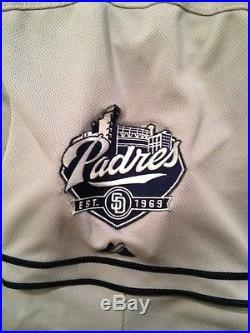 2015 Game Used Worn MATT KEMP Padres Road Jersey #27 Dodgers