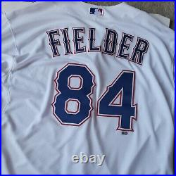2015 Texas Rangers Prince Fielder #84 Game Issued White Jersey
