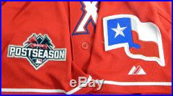 2015 Texas Rangers Ryan Rua #16 Game Used Red Alternate Jersey
