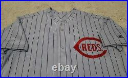 2016 Jay Bruce Game Used Cincinnati Reds Throwback Uniform! Mlb Holo