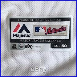 2016 MATT KEMP Game Used Padres Home Jersey #27 Dodgers Reds MLB Authenticated