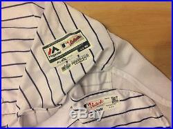 2016 New York Yankees Dustin Ackley Game Used Worn Pinstripe Jersey Steiner LOA