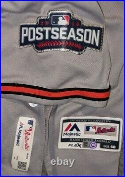 2016 Nolan Reimold Baltimore Orioles game ready Postseason jersey PS patch