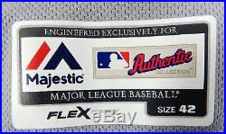 2016 Toronto Blue Jays Melvin BJ Upton #7 Game Issued Grey Playoff Jersey