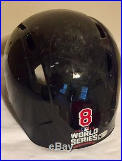 2016 World Series Game Worn Helmet Chicago Cubs Win vs Cleveland Indians