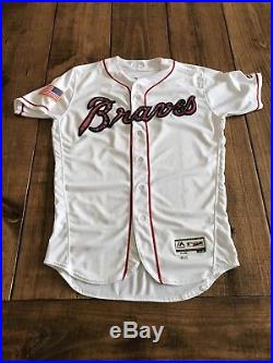 2017 Brandon Phillips Game Used Jersey Atlanta Braves Cincinnati Reds