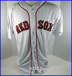 2018 Boston Red Sox Bobby Poyner #42 Game Issued White Jackie Robinson Jersey