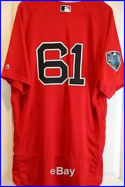 2018 Boston Red Sox Game Issued Un Used World Series Red Alternate Home Jersey