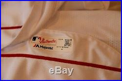 2018 Boston Red Sox Game Issued Un Used Worn Home Jersey MLB Postseason Champs