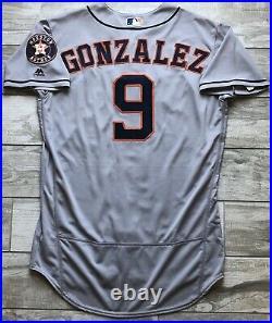 2018 Marwin Gonzalez Game Used Worn Houston Astros Road Grey Jersey ALCS Twins