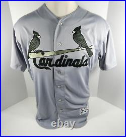 2018 St. Louis Cardinals Blank # Game Issued Grey Jersey Memorial Day 48 STLC417
