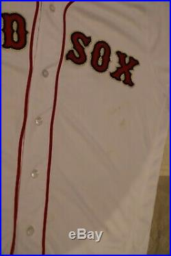 2019 Boston Red Sox Game Used Worn World Series Champs Gold Trimmed Home Jersey
